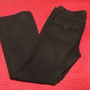 Men's Black True Religion Jeans
